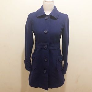 Tulle blue pea coat size Small